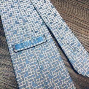 Loewe Blue & White Check Silk Tie